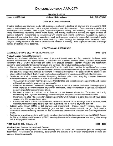 example product manager resume sample and executive