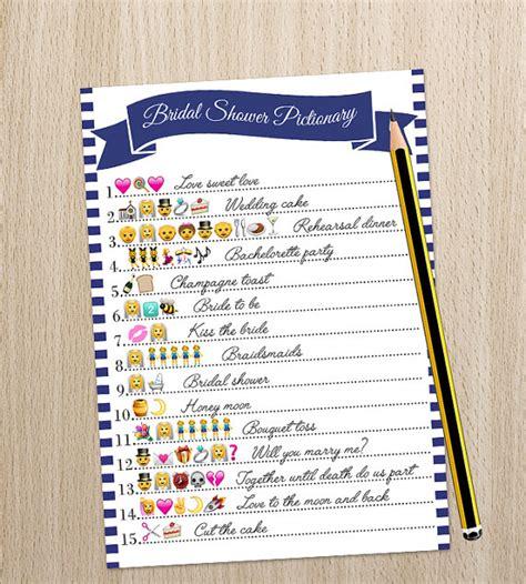 wedding emoji wedding emoji pictionary bridal shower by