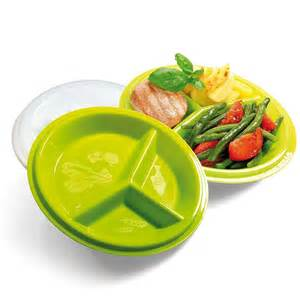 amazon com precise portions 2 go healthy portion control plates pack of 2 bpa free 3 section