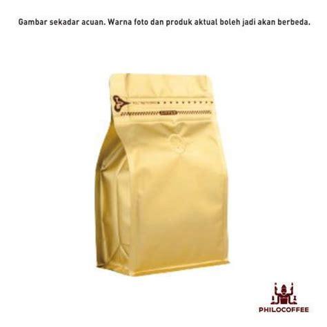Kemasan Box kemasan kopi box pouch emas 250 gr 25 buah philocoffee