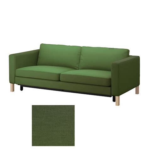dark green loveseat ikea karlstad sofa bed slipcover sofabed cover sivik dark