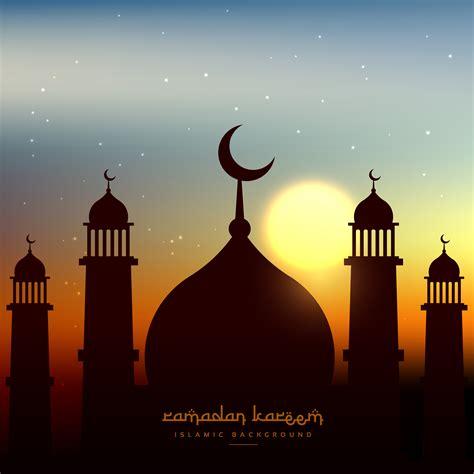 mosque shape  evening sky  sun