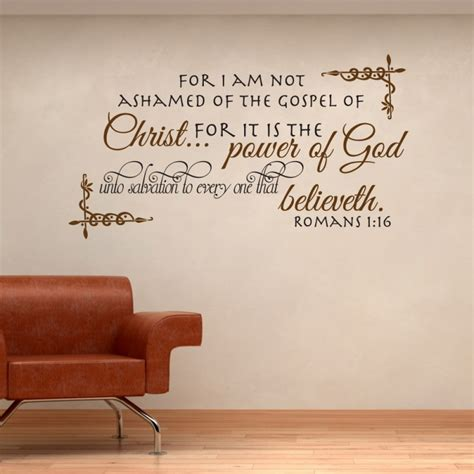 romans  wall quote decor decal
