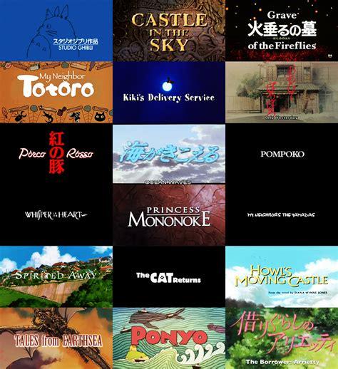 film rekomendasi studio ghibli the wonders of ghibli studio ghibli full length films i