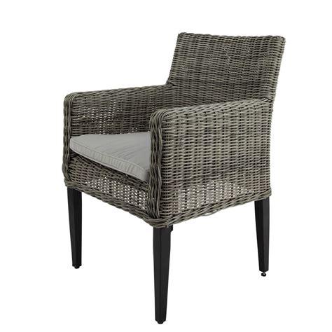 fauteuil jardin resine tressee fauteuil de jardin en r 233 sine tress 233 e grise cape town maisons du monde