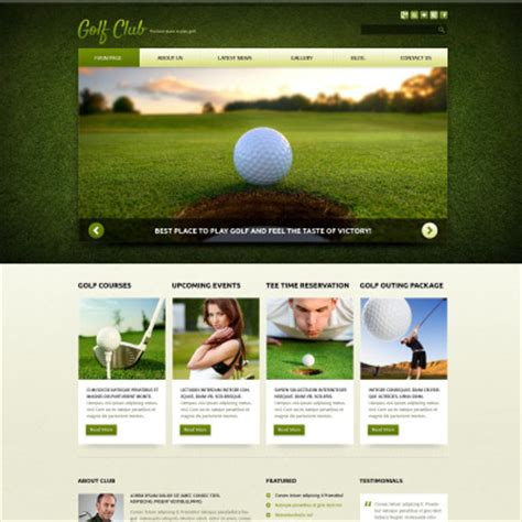 bootstrap themes free golf golf joomla templates