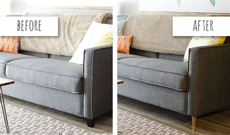 new sofa legs remodelaholic 28 ways to bring new life to an old sofa