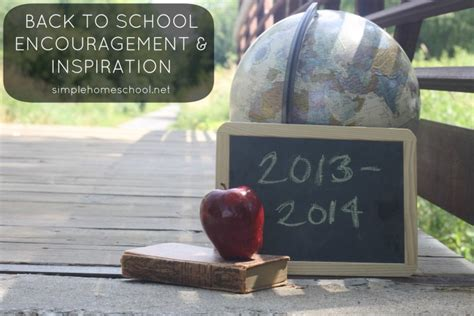 Back To School Encouragement And Inspiration Simple Back Inspiration