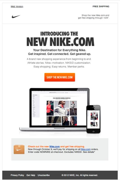 email website nike newsletter beautiful email newsletters