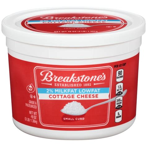 Calories In Lowfat Cottage Cheese by Breakstone S Small Curd Lowfat Cottage Cheese 48 Oz From