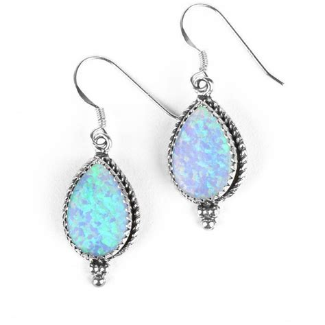 iridescent opal drop earrings