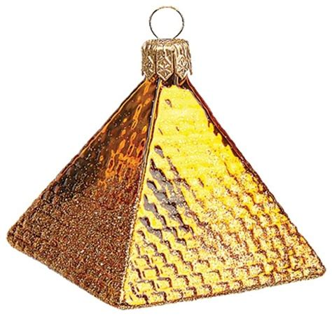 mini egyptian pyramid polish mouth blown glass christmas