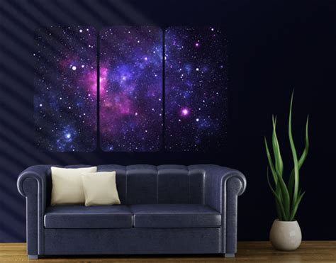 space themed wall murals wall mural galaxy triptych i outer space cosmos