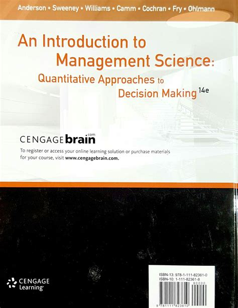 an introduction to management science quantitative approach books an introduction to management science 4e