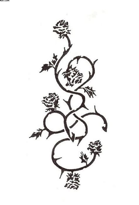 rose and thorn vine tattoos designs tattoos clipart best