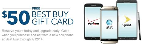 Best Buy Gift Card For Cell Phone - upgrade your cell phone and get a 50 gift card best buy unboxed