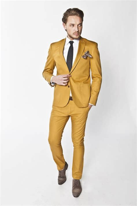 suit colors bold color and a nice peak lapel suit fashion i like