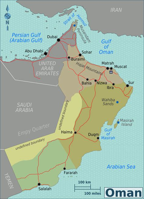 map of oman with cities detailed road and administrative map of oman oman