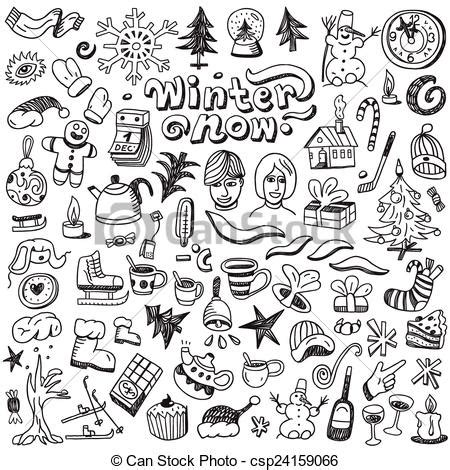 winter coloring book for adults grayscale line coloring book books winter symbols doodles set winter
