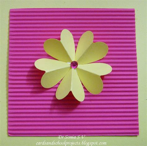 How To Make Easy Paper Flowers For Cards - cards crafts projects and easy punch