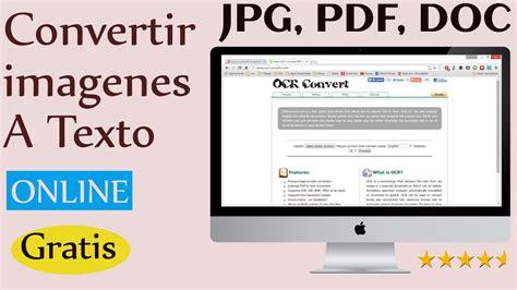 convertir imagenes formato jpg como convertir imagenes a texto ocr escaner online