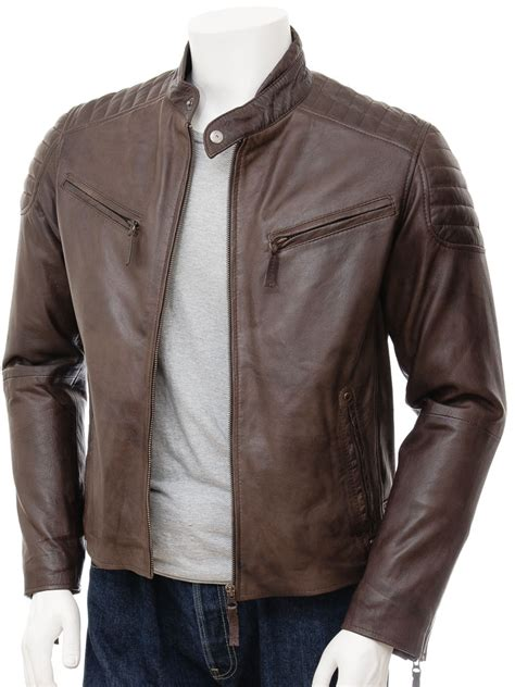 leather jacket mens brown biker leather jacket maikop caine