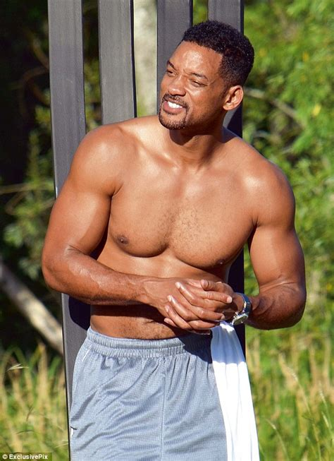 will smith displays washboard abs on cruise with margot