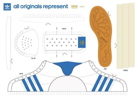 adidas paper sneaker aajuguetes de papel paper crafts paper shoes y shoe template