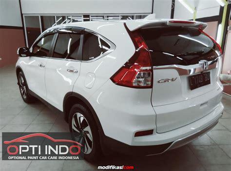 Honda Crv With Nano Ceramic Scuto 1 opti indo auto detailing surabaya white honda crv