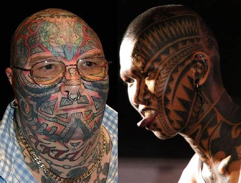 face tribal tattoo images designs