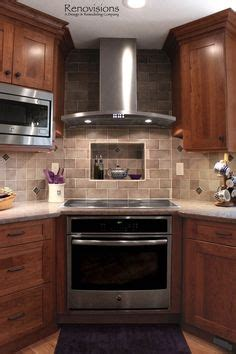 stove sits in the corner great idea if you those stupid corner cabinets house