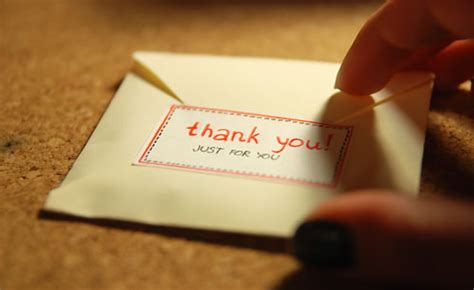 Thank You Letter Envelope envelope fingers letter onoiko thank you image