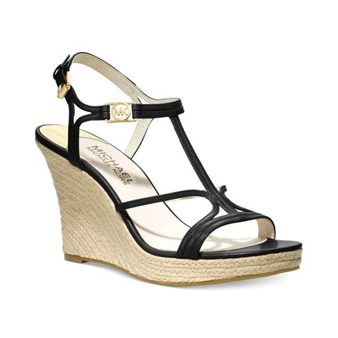 michael kors michael cicely platform wedge sandals in