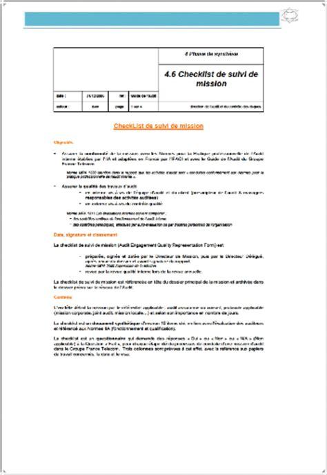 Modèles Lettre De Mission memoire l audit interne facteur de performance dans l entreprise samir bouguetaya