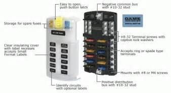 marine 12 volt fuse block wiring diagram marine wiring