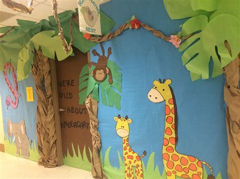 jungle theme swing africa themed kindergarten door decoration classroom door