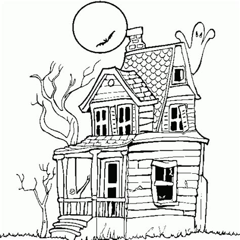 printable haunted house outline coloriage maison hant 233 e 224 imprimer halloween sur