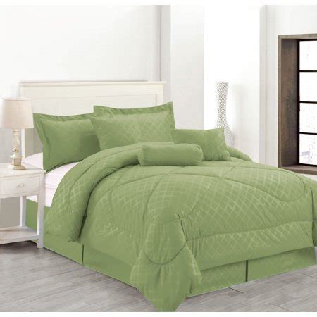 cofortersburlington coat factory luxury hotel 7 pc embossed solid sized comforter set green size walmart