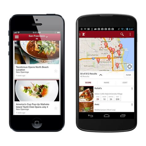 zagat for android launches new zagat android app and website makes trusted ratings available without