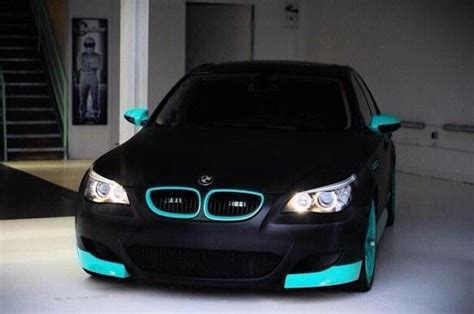 black and teal car bmw matteblack blackedout teal the whips pinterest
