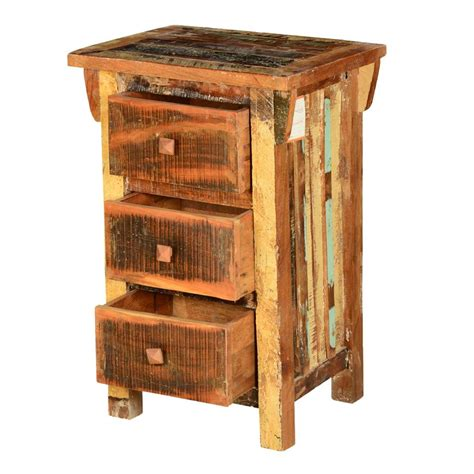 Cheap Nightstands by Rustic Pioneer Reclaimed Wood 3 Drawer Nightstand End