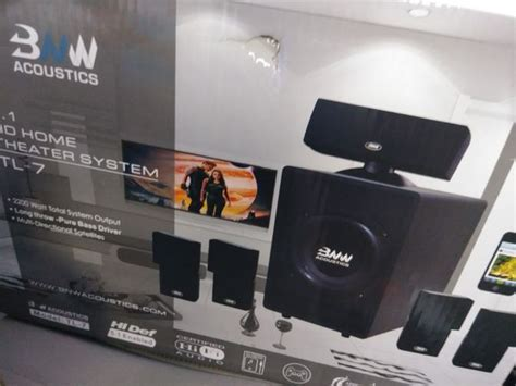 bnw acoustics  hd home theater system tl   sale