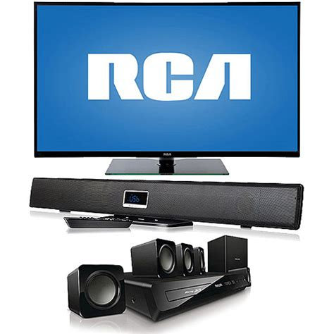 rca 50 quot led50b45rq 1080p 60hz led hdtv with home theater