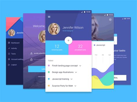 free app template top 50 free mobile ui kits for ios android