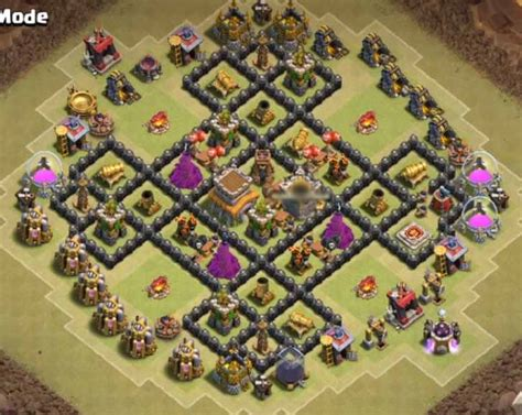 town hall 8 war base 8 best th8 war base anti dragon with bomb tower 2016
