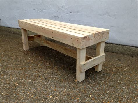 timber bench squared pallet timber garden bench by gas air studios