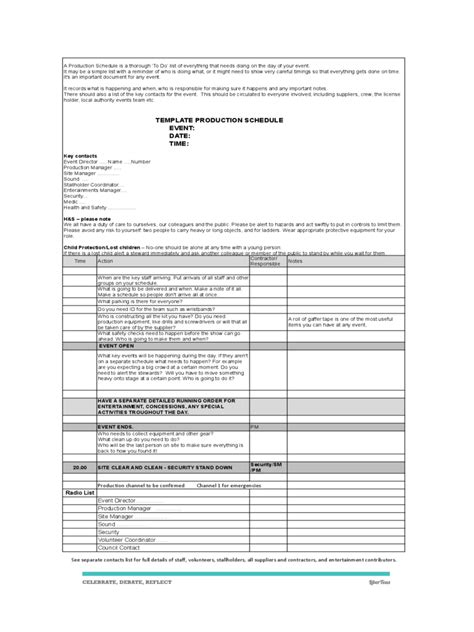 production timeline template production timeline template 2 free templates in pdf