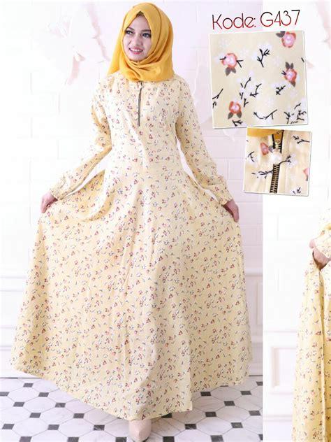 Gamis Katun Jepang Gamis Santai Busui Puspita Dress gamis flowerly ziper g437 baju style ootd