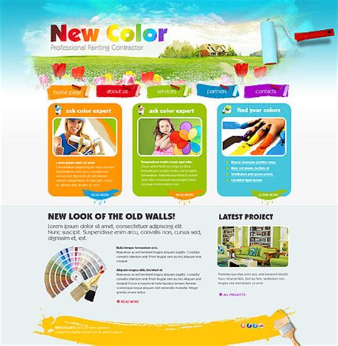 Painting Html Website Template Best Website Templates Painting Website Templates