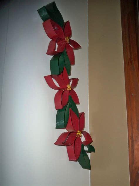 poinsettia craft project toilet paper roll poinsettia craft ideas